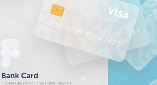 Free Figma Bank Card template