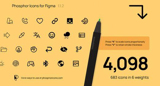 Phosphor - 683 free Figma icons