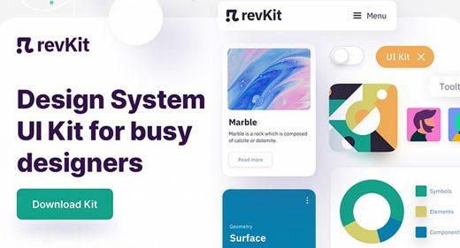 Revkit free Figma UI kit