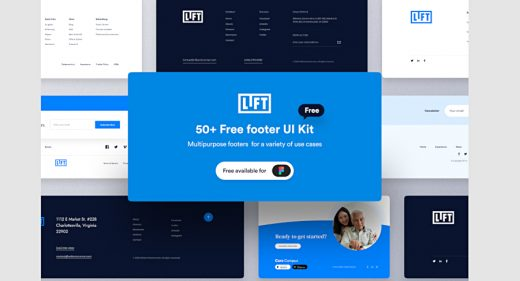50 free footers templates for Figma