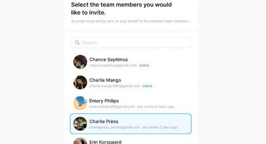 Figma invitation modal UI