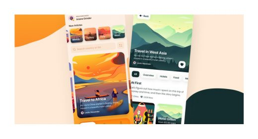 Figma travel journal app template