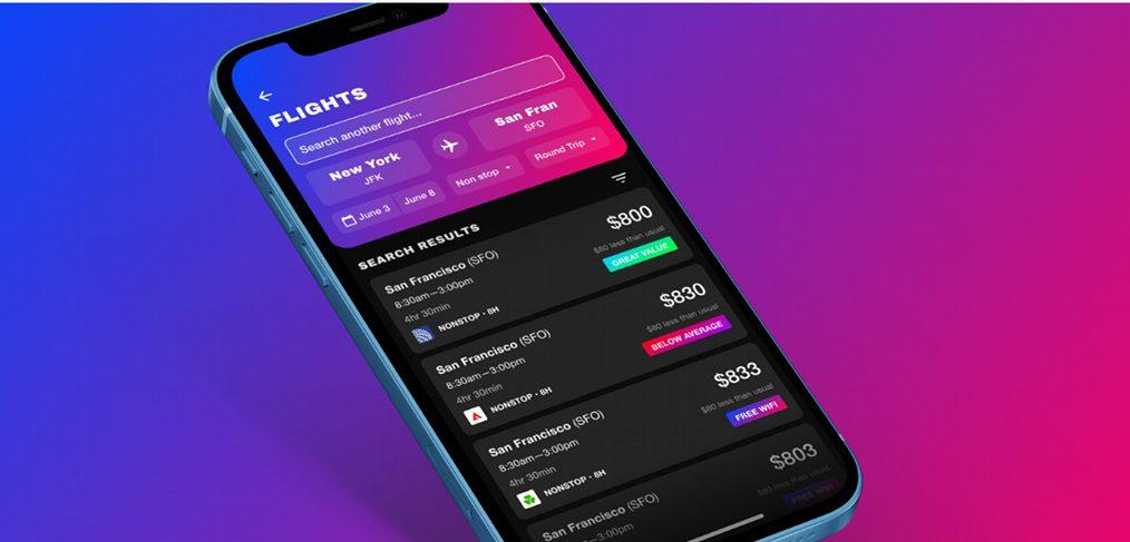 Flight Tracker Figma App Template
