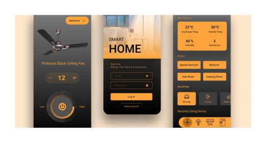 Smart home concept made in Figma