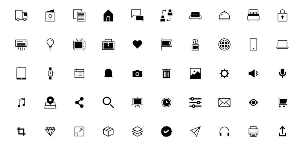 50 Free Figma generic icons