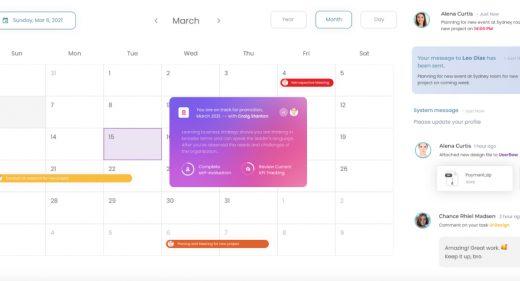 Figma calendar event template