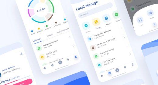 Figma cloud storage app template