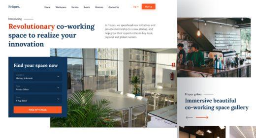 Figma coworking website template