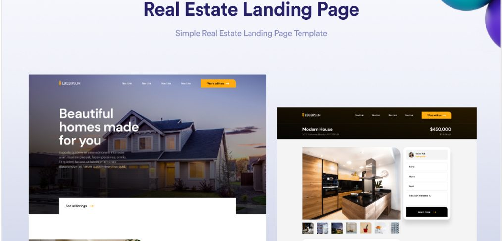Figma free real estate website template