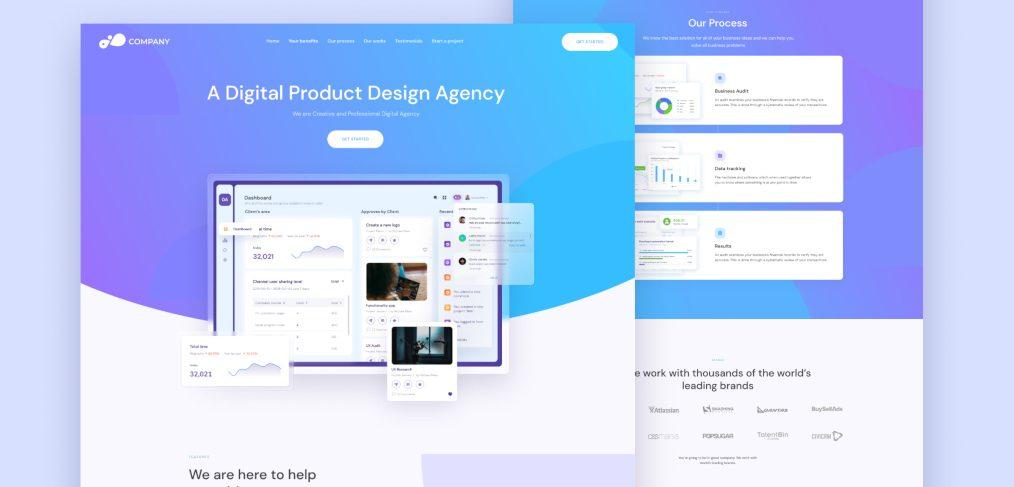 Figma landing page for digital agency