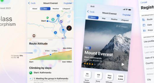 Figma Travel service app template