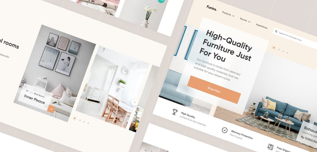 Free Figma Furniture Shop template