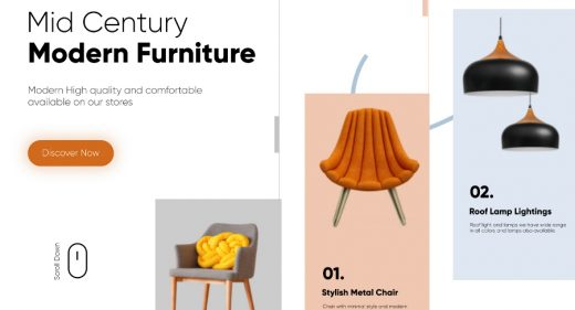 Furniture Website template for Figma