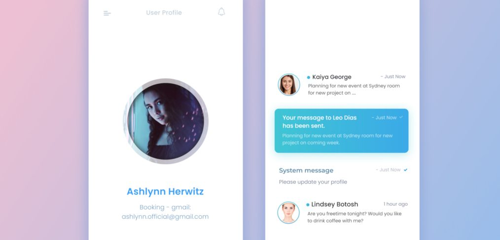 Figma mobile notifications templates