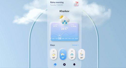 Figma weather app concept