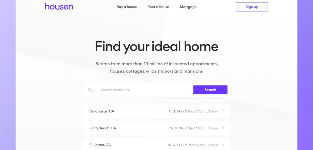 Minimalistic real estate Figma template