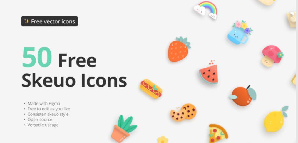 50 Free Figma skeuo icons