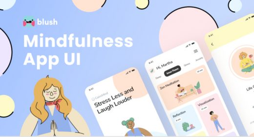 Figma meditation app template