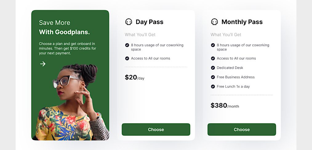 Figma pricing tables template