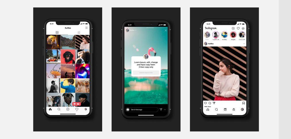 Free Figma Instagram UI kit