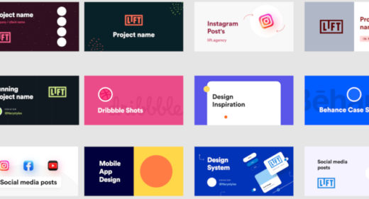 15 free project thumbnails for Figma