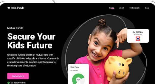 Hero for Figma mutual fund website