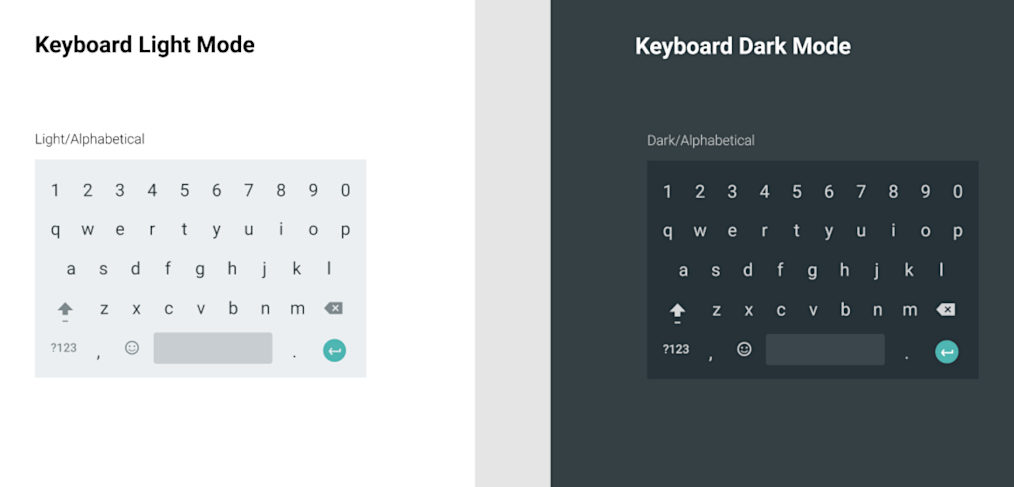 Android keyboard UI for Figma