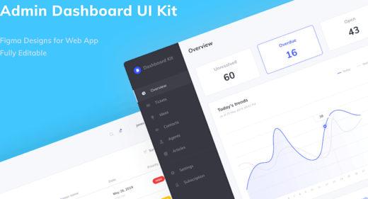 Figma Admin Dashboard Templates