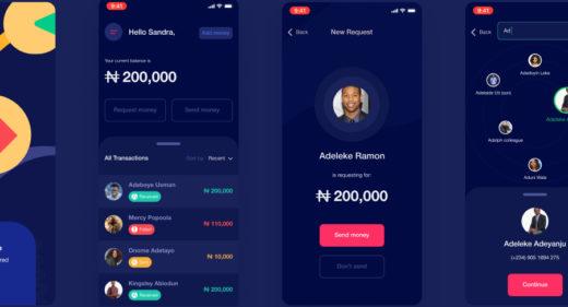Figma Fintech app concept