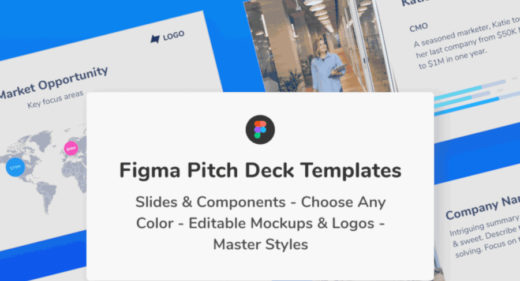 Figma Pitch Deck Presentation Templates