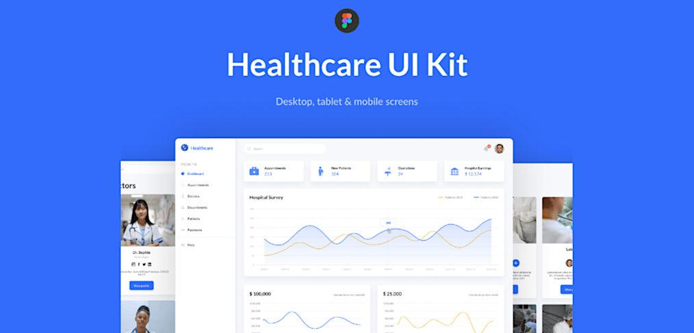 Healthcare Figma Dashboard Template