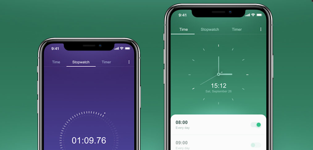 Watch app concept for Figma