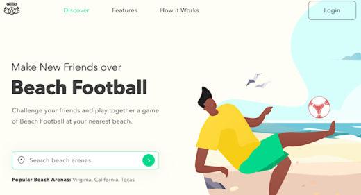 Beach football Figma landing concept