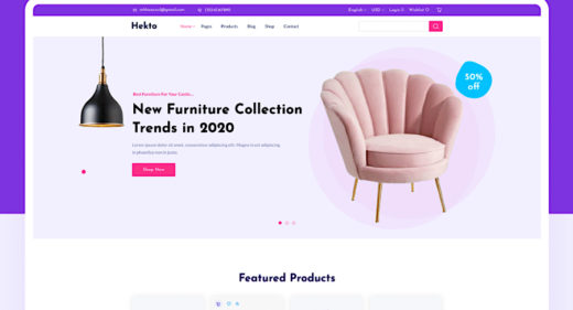 Figma ecommerce website UI kit