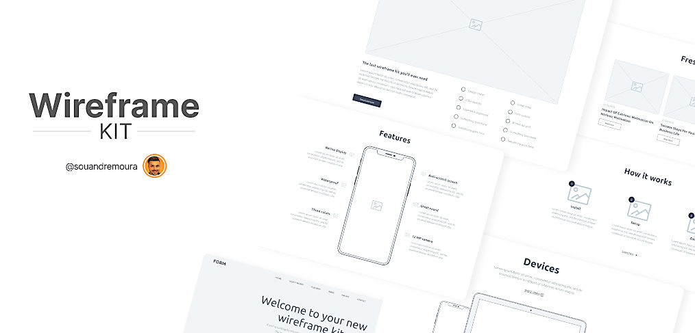 Free Wireframe kit for Figma