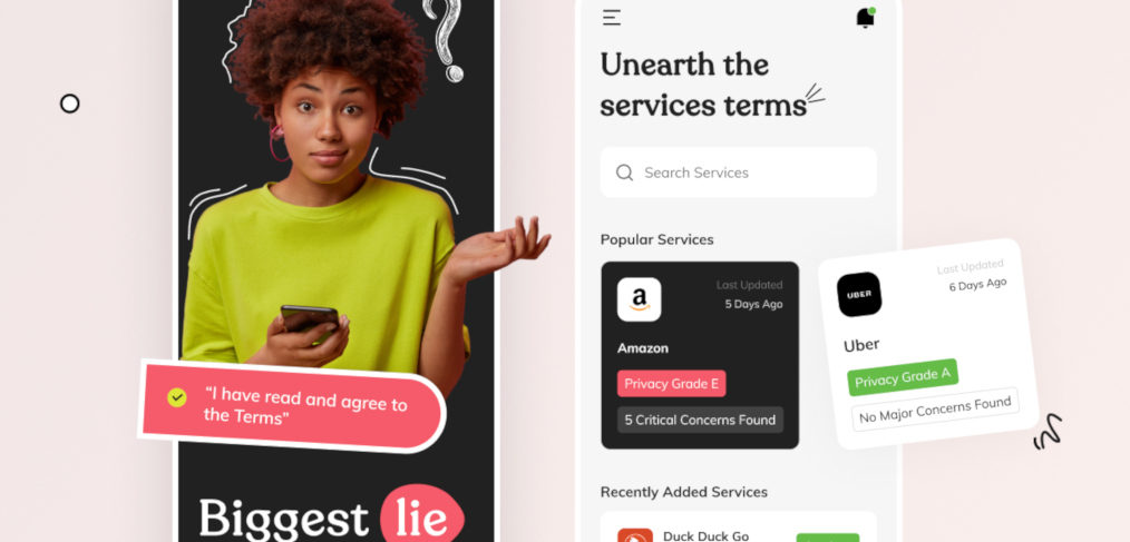Terms service mobile UI for Figma