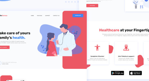 Figma medical landing page template