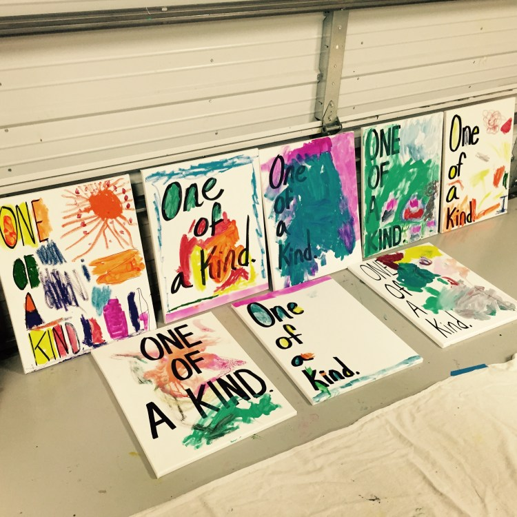 One Of A Kind, Wee Warhols, Austin, Art classes, kid art
