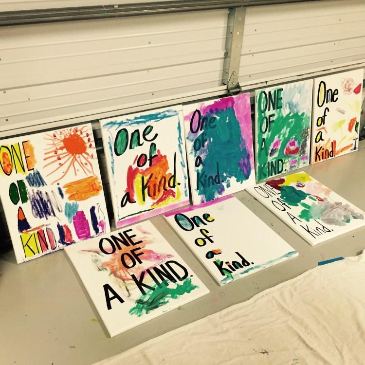 One Of A Kind, Wee Warhols, Austin, Art classes, kid art