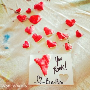 heart rocks, you rock, Valentines, Wee Warhols, Austin TX, handmade