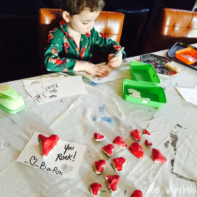 You Rock, Valentines, Valentine's Day, Wee Warhols, Austin TX, handmade Valentines, rock art, rock hearts, hearts