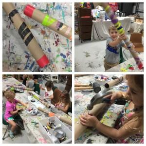 Wee Warhols, Austin TX, rainstick, rainstick, kids crafts, handmade instruments, handmade percussion instruments