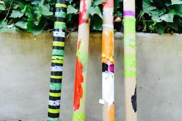 Wee Warhols, rainsticks, kids crafts, Austin TX, recycled crafts