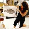 fish prints, gyotaku, art class, austin, art camp, Wee Warhols, art education, early learning, Amber Scardino