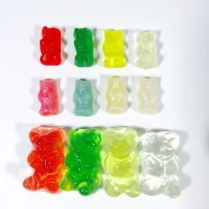 gummy bear grow experiment, Wee Warhols, Austin, TX, science, STEM