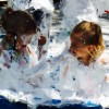Wee Warhols, summer fun, shaving cream, splash, summer camp, water day, Austin TX