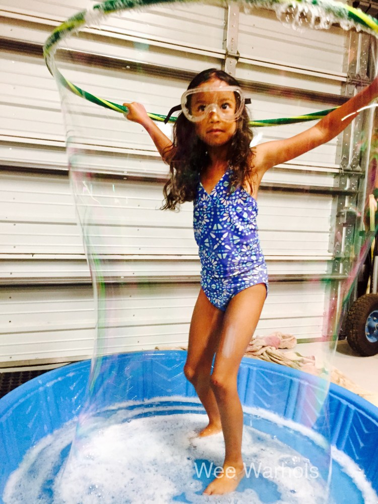 human bubble, wee warhols, austin, summer camp, large bubble, bubbles