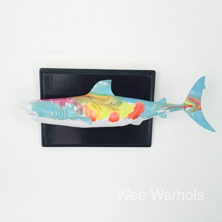 faux taxidermy dit, trophy fish, Wee Warhols, art class, Austin TX, mounted fish