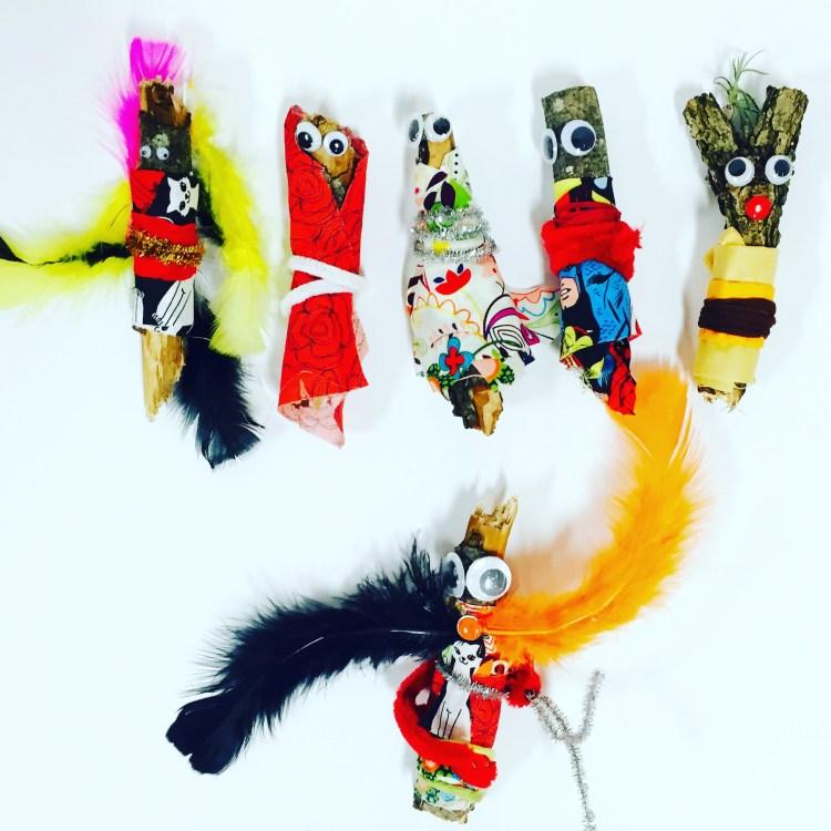 stick dolls, stick people, Wee Warhols, Austin TX