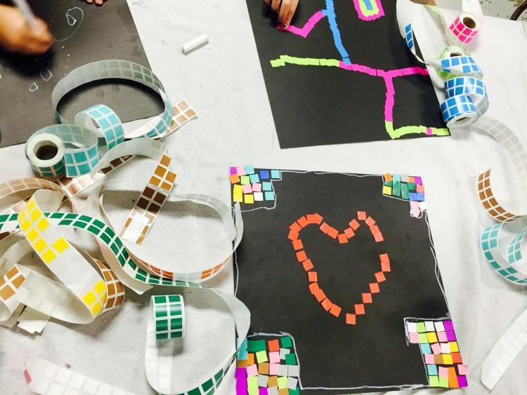 mosaic, mosaic, kids art, Wee Warhols, art class, austin,
